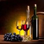 Stilleven met fles wijn — Stockfoto #5009837