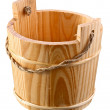 Empty wooden bucket. - Stock Photo