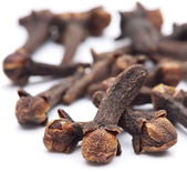 Spice cloves on white background — Stock Photo