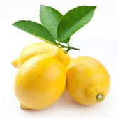 High-quality photo ripe lemons on a white background — Stock Photo