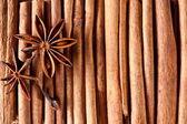 Texture image cinnamon sticks. — Stock Photo