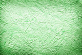 Texture image crumpled green paper. — Stock Photo