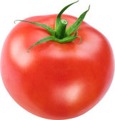 Image of tomato on white background. The file contains a path to — Stock Photo