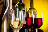 Still life with wine glasses — Stock Photo