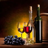 Still life with wine bottle — Stock Photo