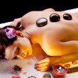 Young woman getting spa procedures. — Stock Photo #5346505