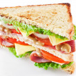 Sandwich with bacon - Foto Stock