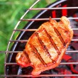 Royalty-Free Stock Photo: Hot  beefsteak on barbecue