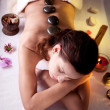 Girl takes the spa treatments - Stock Photo