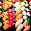 Assorted japanese sushi - Stockfoto