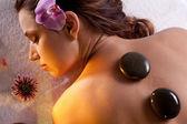 Girl takes the spa treatments — Stock Photo