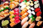 Assorted japanese sushi — Stock Photo