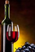 Zátiší s láhví vína — Stock fotografie