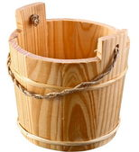 Empty wooden bucket. — Stock Photo