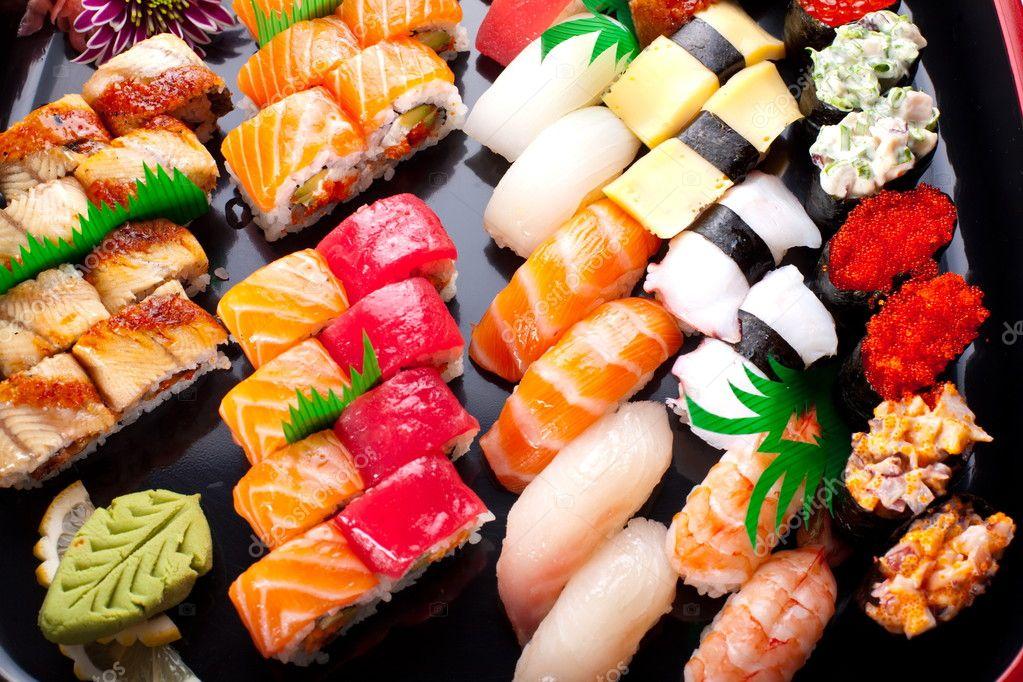 assorted japanese sushi stock photo valentyn volkov 5348599. Black Bedroom Furniture Sets. Home Design Ideas