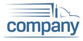 Tung bil transport logotyp — Stockvektor