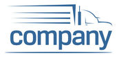 重い車の交通機関のロゴ — ストックベクタ