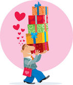 Gift Box and love — Stock Vector