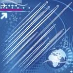 Design elements of jet trails — Stock Vector