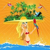 Tropical paradise — Stock Vector