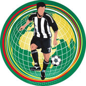 Soccer player — Vettoriale Stock