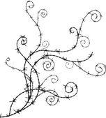 Barbwire ornament — Stock Vector