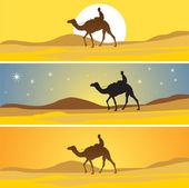 撒哈拉沙漠风景区 — 图库矢量图片