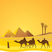 Cairo and sahara scenic — Stock Vector