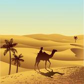 撒哈拉沙漠 — 图库矢量图片