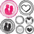Royalty-Free Stock Vector Image: Stamp of Love