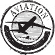 Aviation stamp — Stok Vektör