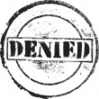 Denied stamp — Stock Vector