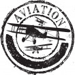 Aviation stamp - Stok Vektör