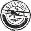 Stok Vektör: Aviation stamp