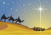 Shining star of Bethlehem. — Vector de stock