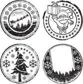 Christmas stamp set — Stock Vector