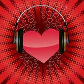 Listen your heart — Stock Vector