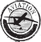 Sello de aviación — Vector de stock