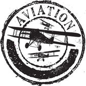 Aviation stamp — Stock Vector