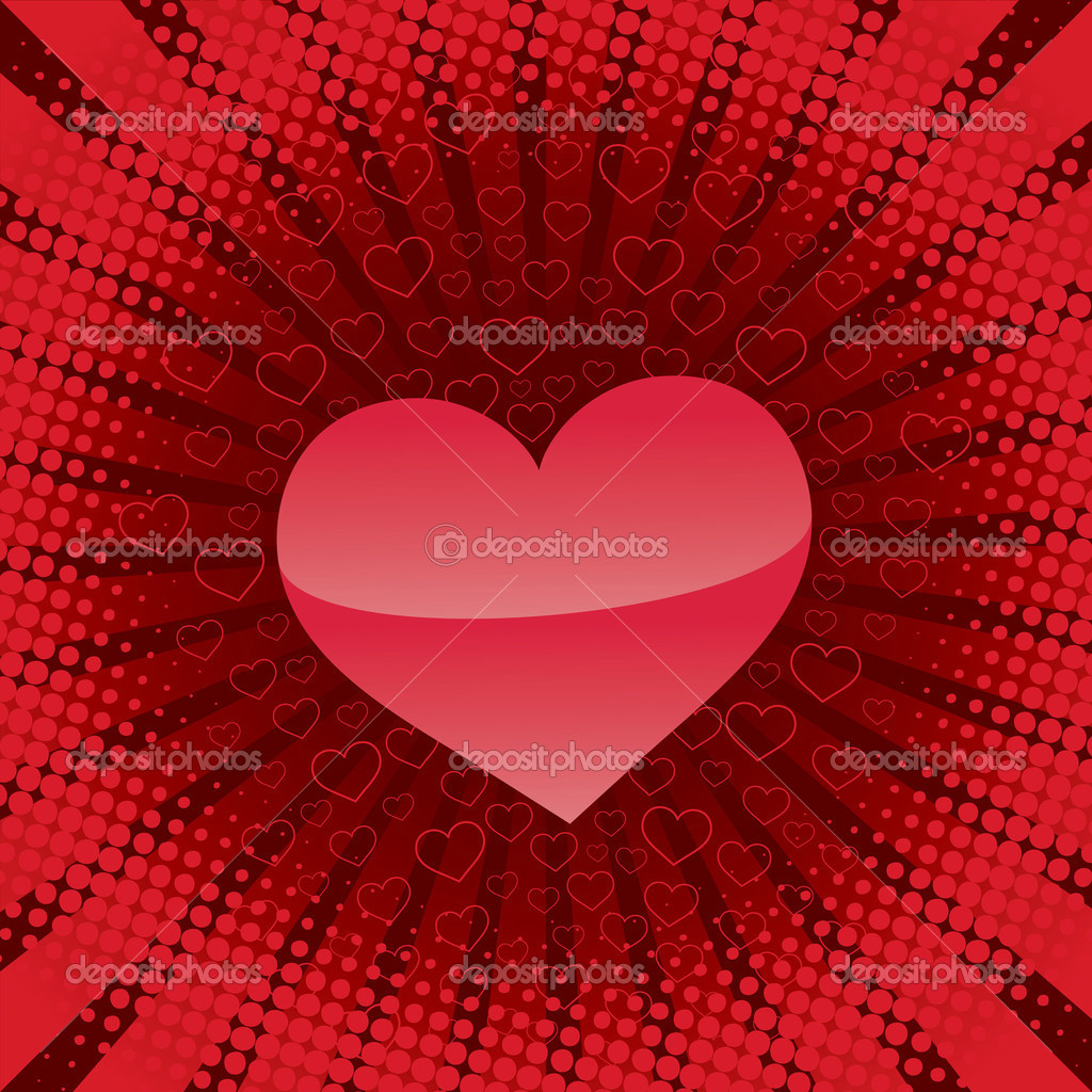 Heart backgrounds. Valentine's day illustration — Stock Vector #4174472