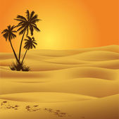Çöl sahra — Stok Vektör