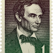 Abraham-Lincoln-Briefmarken — Stockvektor