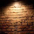 Illuminated by a red brick wall — Stock Photo