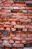 Broken red brick — Stock Photo
