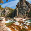 Beautiful autumn wild mountain river — Stock Photo