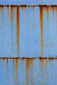 Blue old rusty metal — Stock Photo
