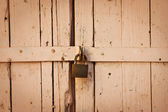 Destroyed wooden gates — Stock Photo