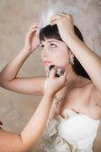 Bright bride in white — Stock Photo