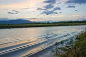 Sunset on lake — Foto de Stock