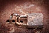 Rusty padlock — Stock Photo